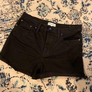 Madewell High Waisted Black shorts